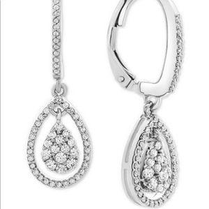 R.H. Macy 1/2ct. Diamond drop earrings. NIB
